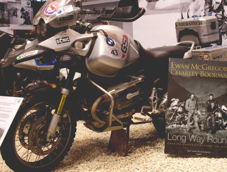 BMW GS on display as used by Ewan McGregor and Charley Boorman in Long Way Round